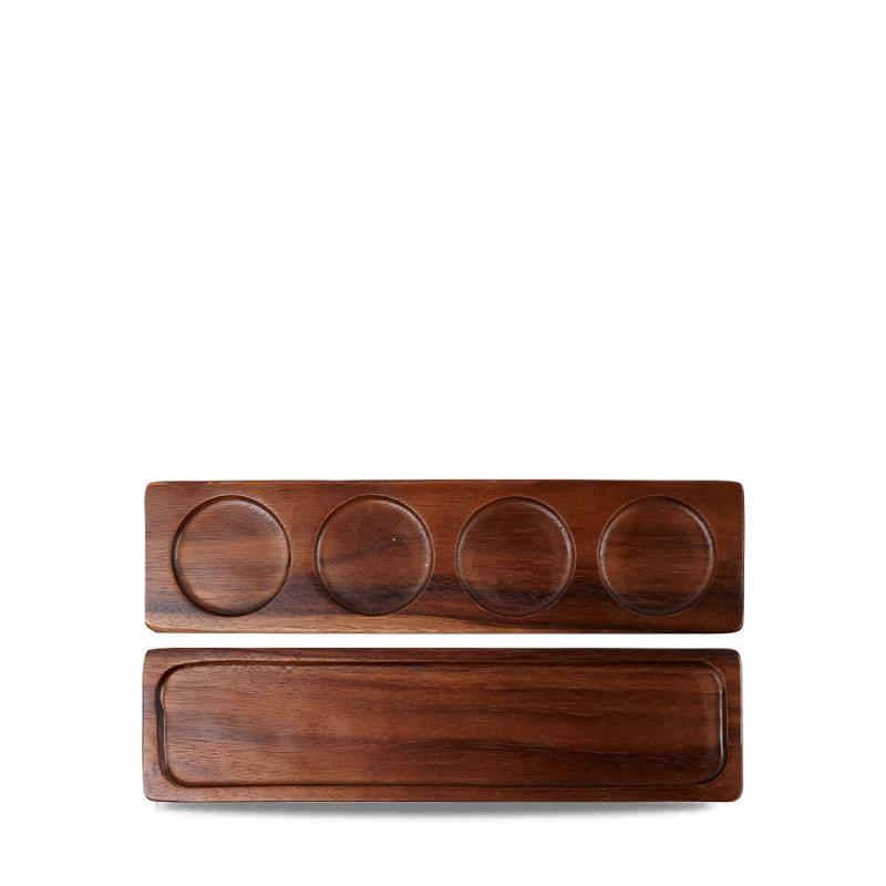 Wood Rectangular Medium Deli Board  Box 4