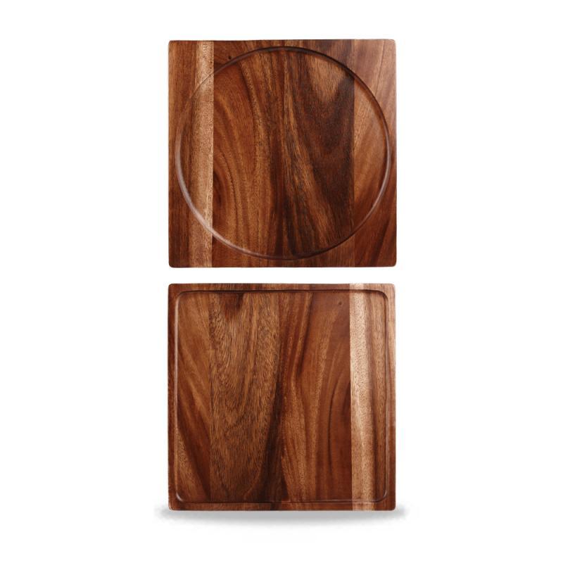 """Wood Square Presentation Board 12"""" Box 4"""