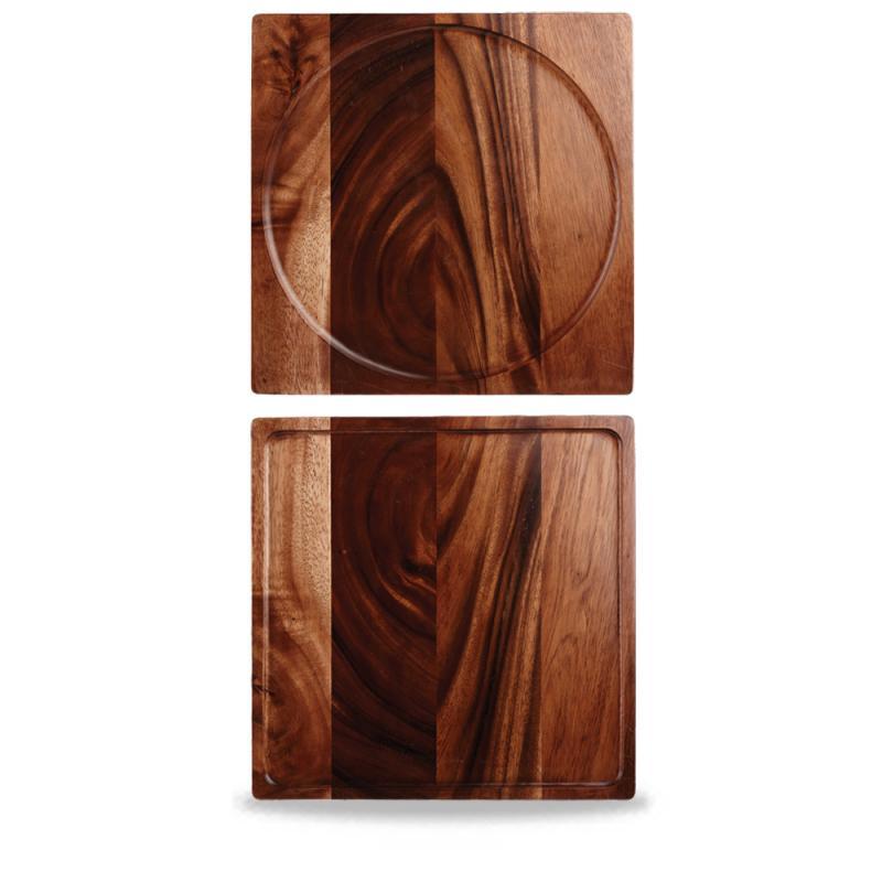 """Wood Square Presentation Board 13 2/8"""" Box 4"""