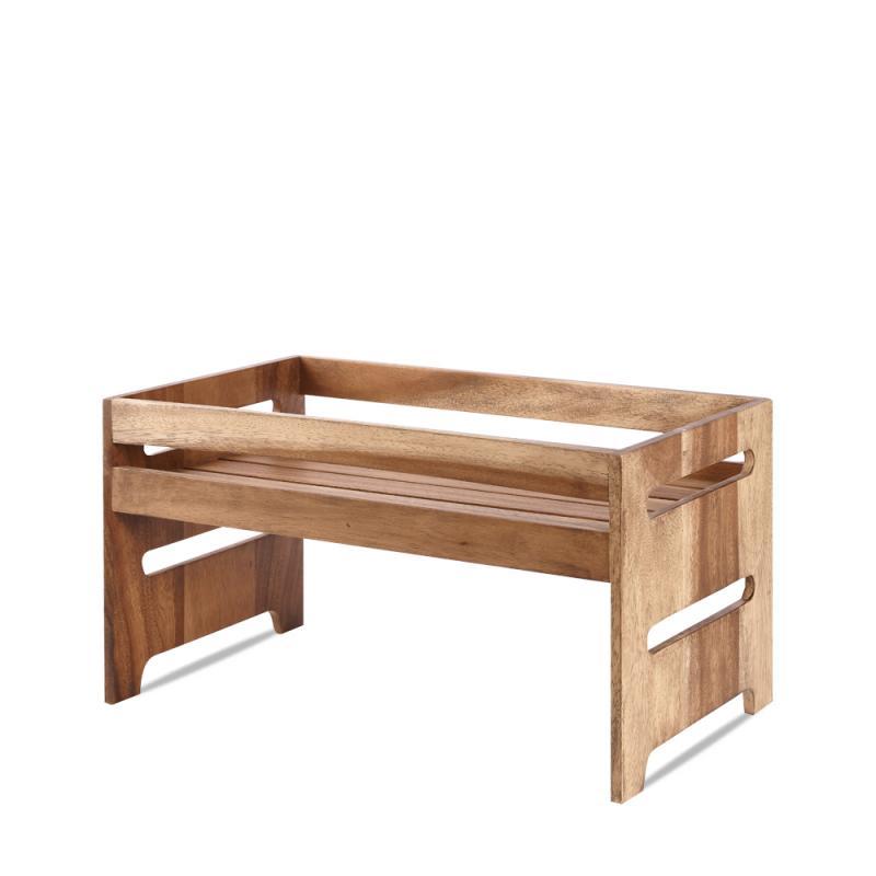 "Wood  Large Rustic Nesting Crate 17.5X10.15X9.25"" Box 1"