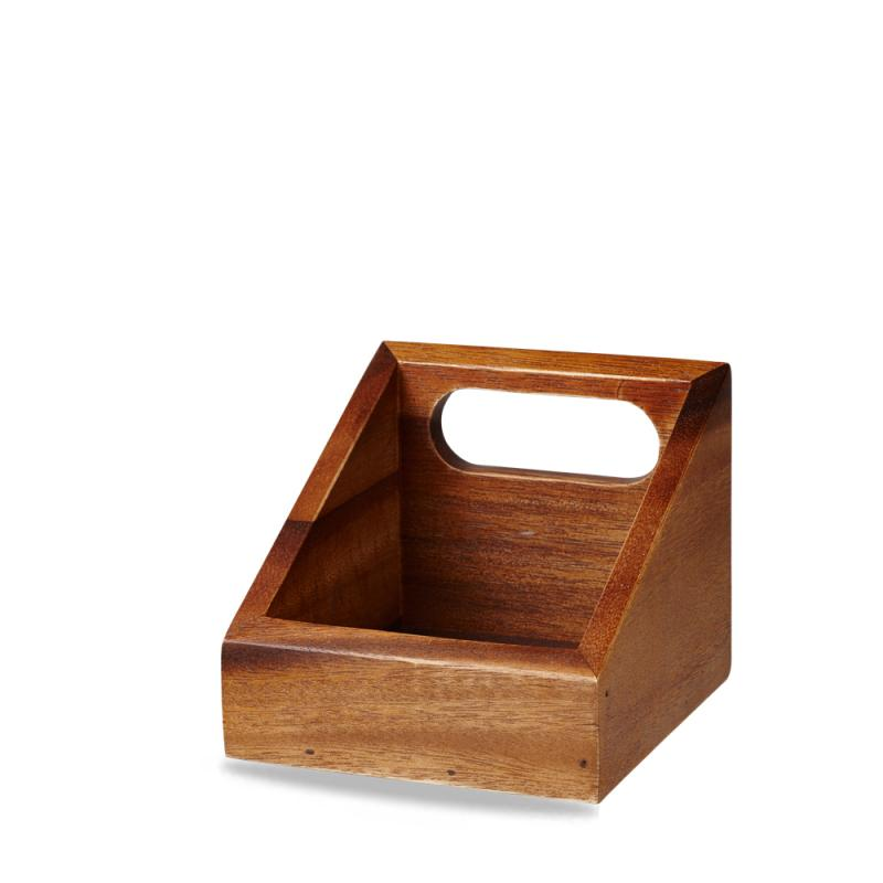 """Wood Square Small Wooden Carrier 4"""" Box 4"""