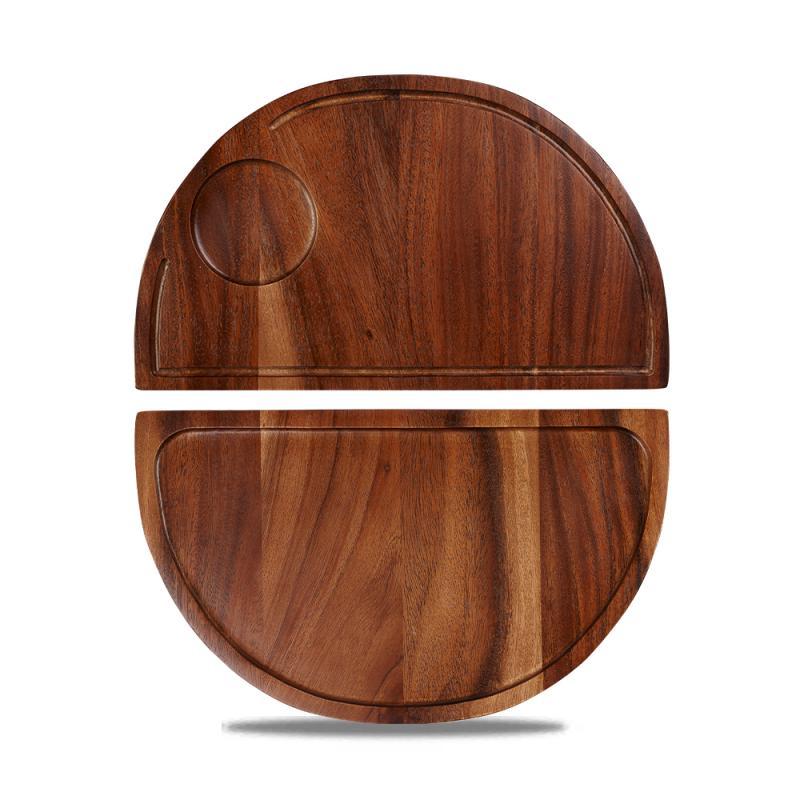 Wood Semi-Circle Deli Board  Box 4