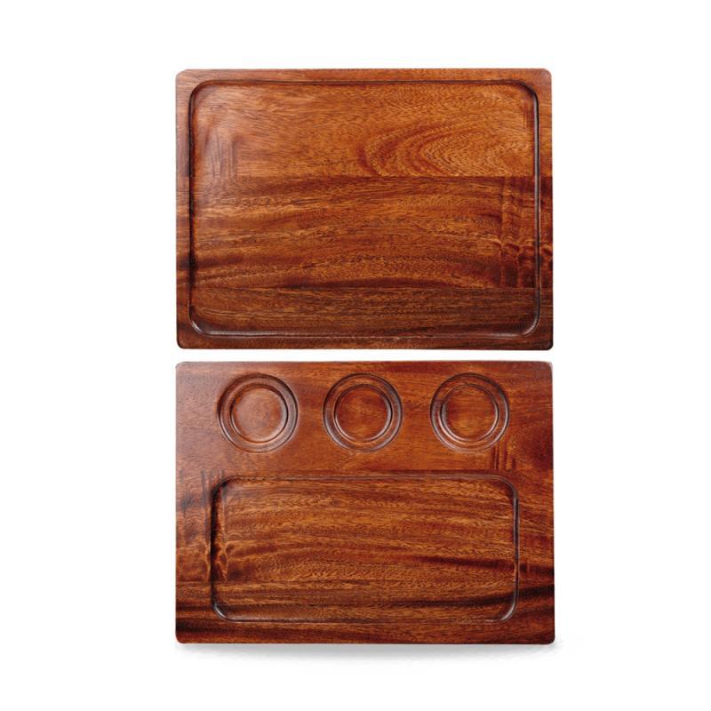 Wood Square Deli Board 32.6Cmx24 Cm Box 4