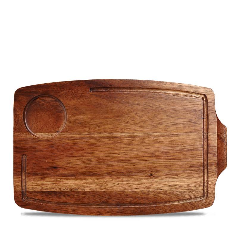 "Wood Rectangular Serving Board 13 5/8X8 5/8"" Box 6"