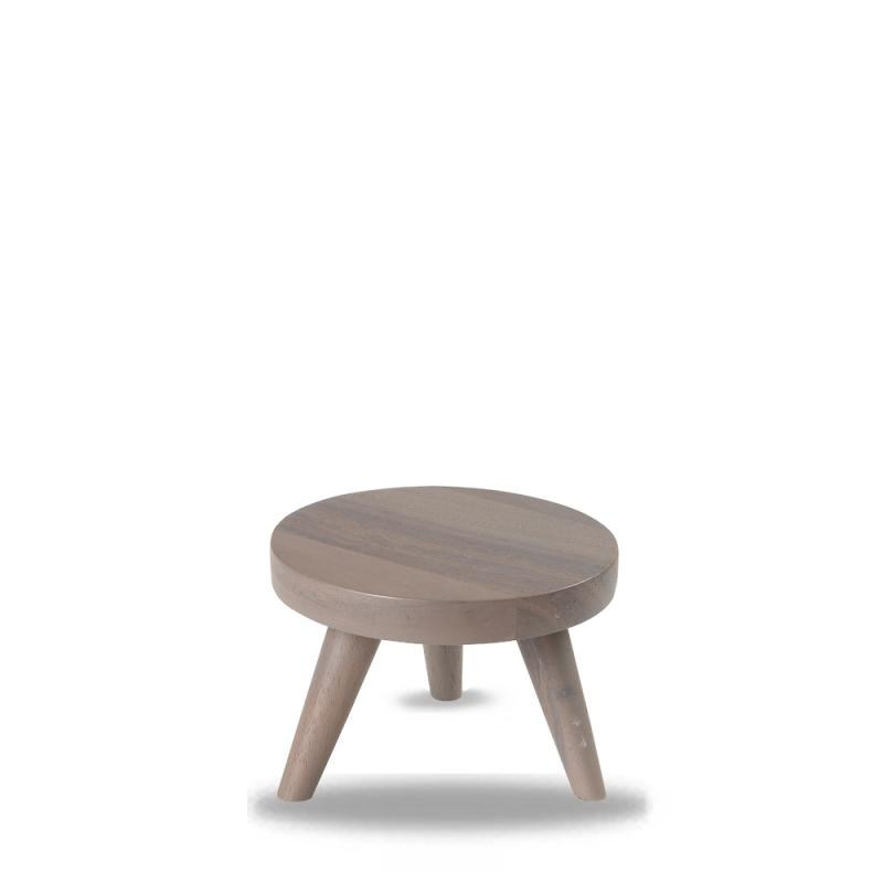 Wood Round Grey Small Stand 15X10Cm Box 4