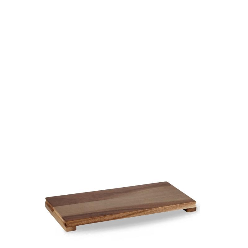 "Wood  Small Rectangular Pres. Board 13 1/2X6 1/3X1"" Box 4"