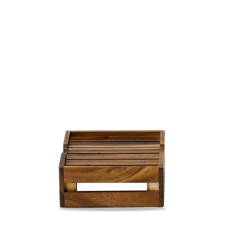 "Wood  S/S Stkng Crate Riser 10 1/6X8 3/4X3 7/10"" Box 4"