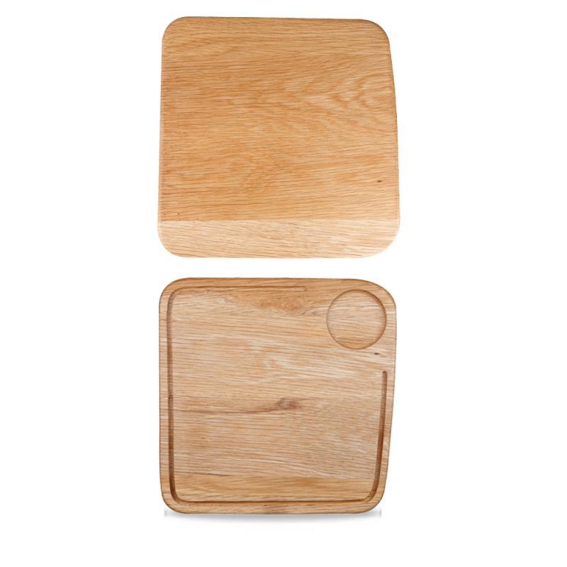 "Wood Square Board Large 12""X12""X0.8"" Box 4"