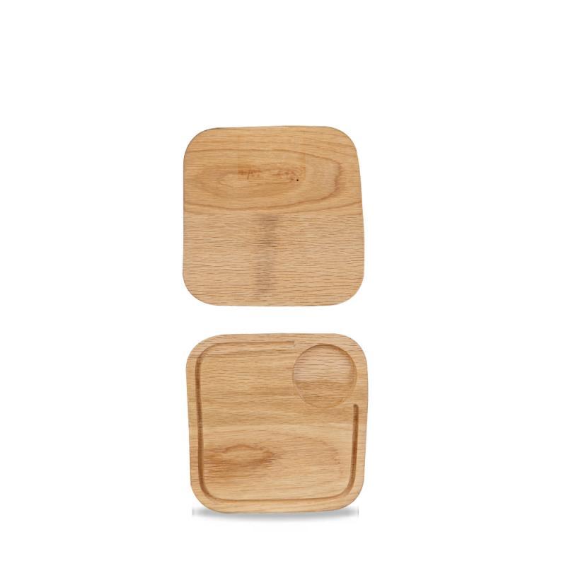 """Wood Square Board Small 8X8"""" Box 4"""
