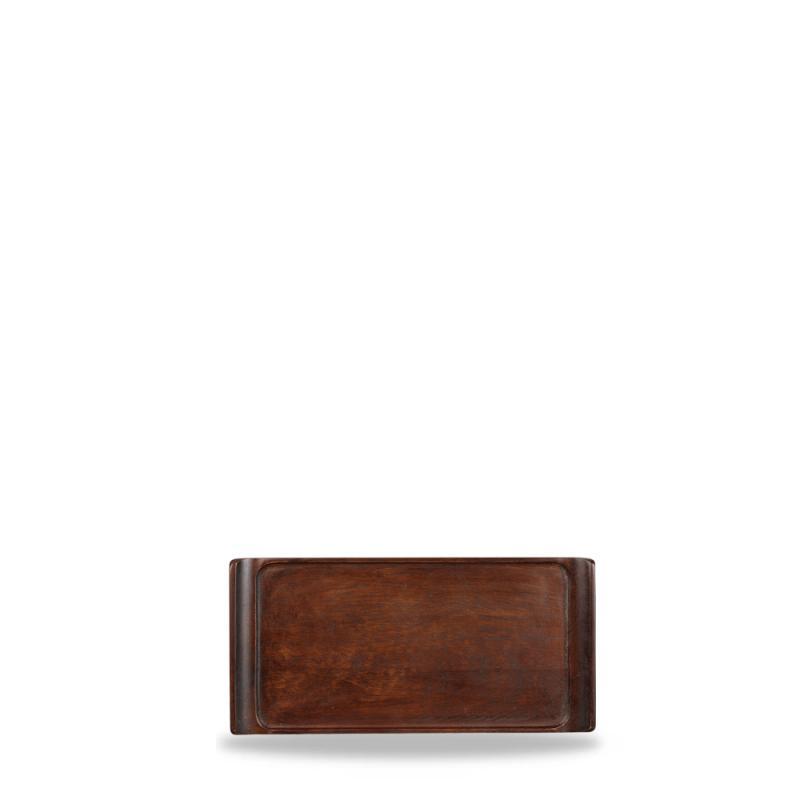 "Wood Rectangular Tray 11 3/4"" X 5 3/4"" Box 6"