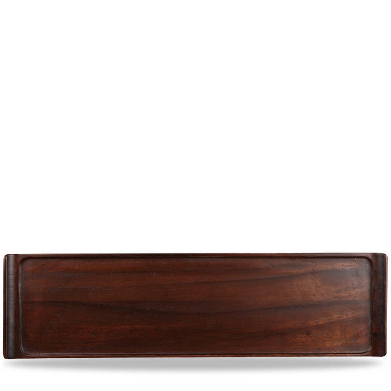 "Wood Rectangular Tray 22"" X 6"" Box 4"