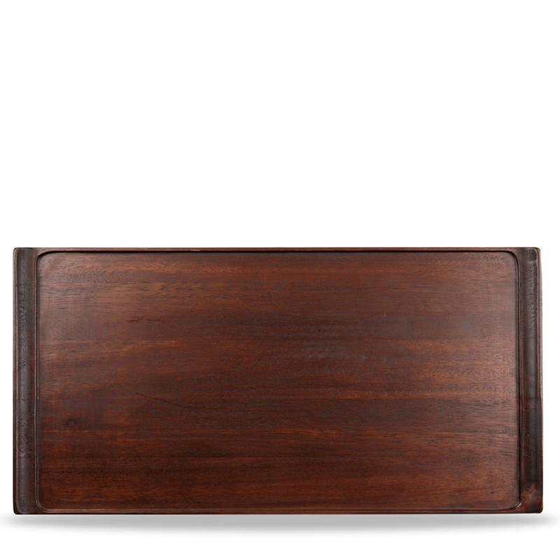 "Wood Rectangular Tray 20 7/8"" X 12 3/4"" Box 2"