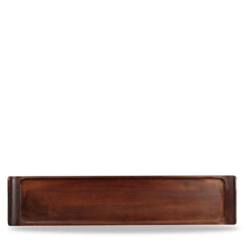 "Wood Rectangular Tray 18"" X 3 7/8"" Box 4"
