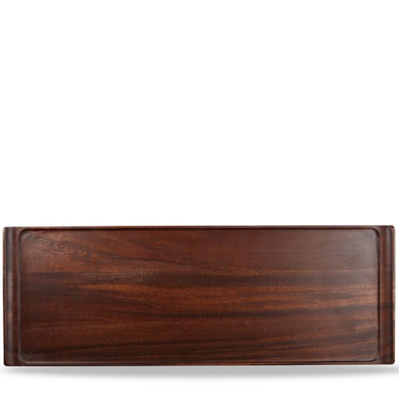 "Wood Rectangular Tray 22 7/8X7 7/8"" Box 4"