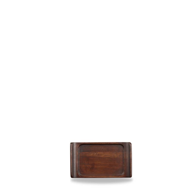 "Wood Rectangular Tray 6 3/4"" X 3 7/8"" Box 6"
