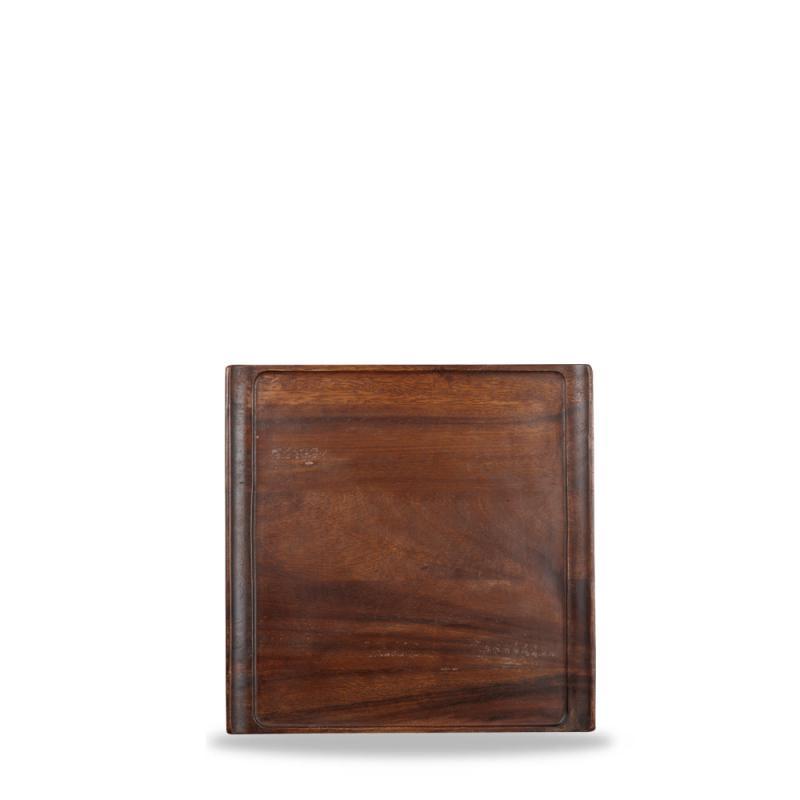 "Wood Square Tray 11 7/8"" X 11 7/8"" Box 4"