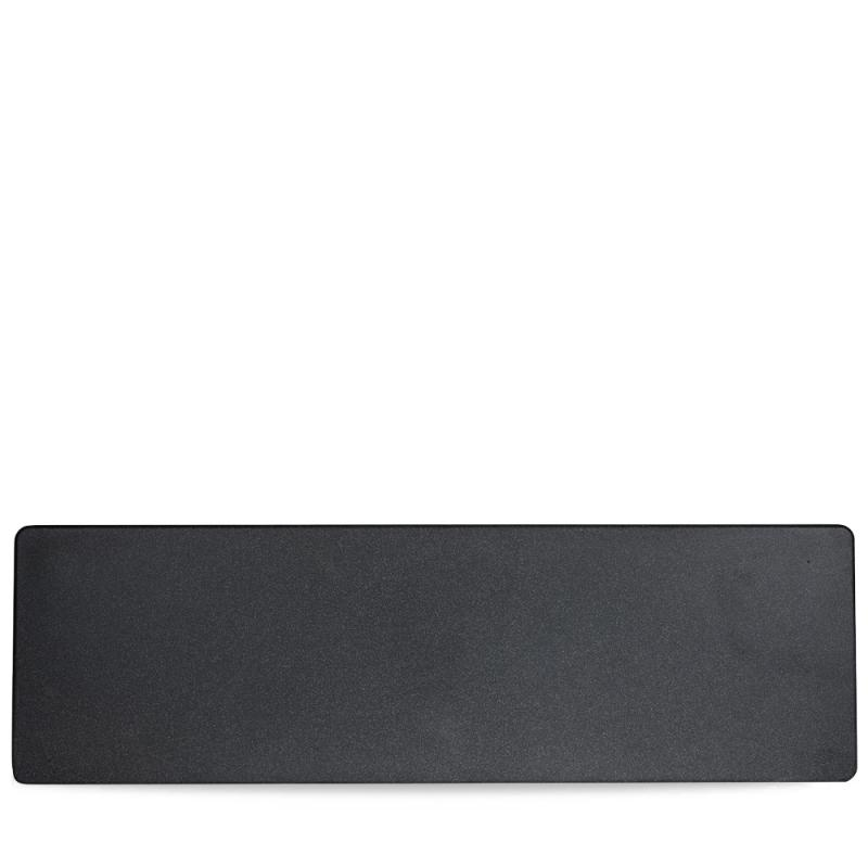 "Plastic  Granite Black Gn 2/4 Tray 20 5/6X6 1/3"" Box 4"