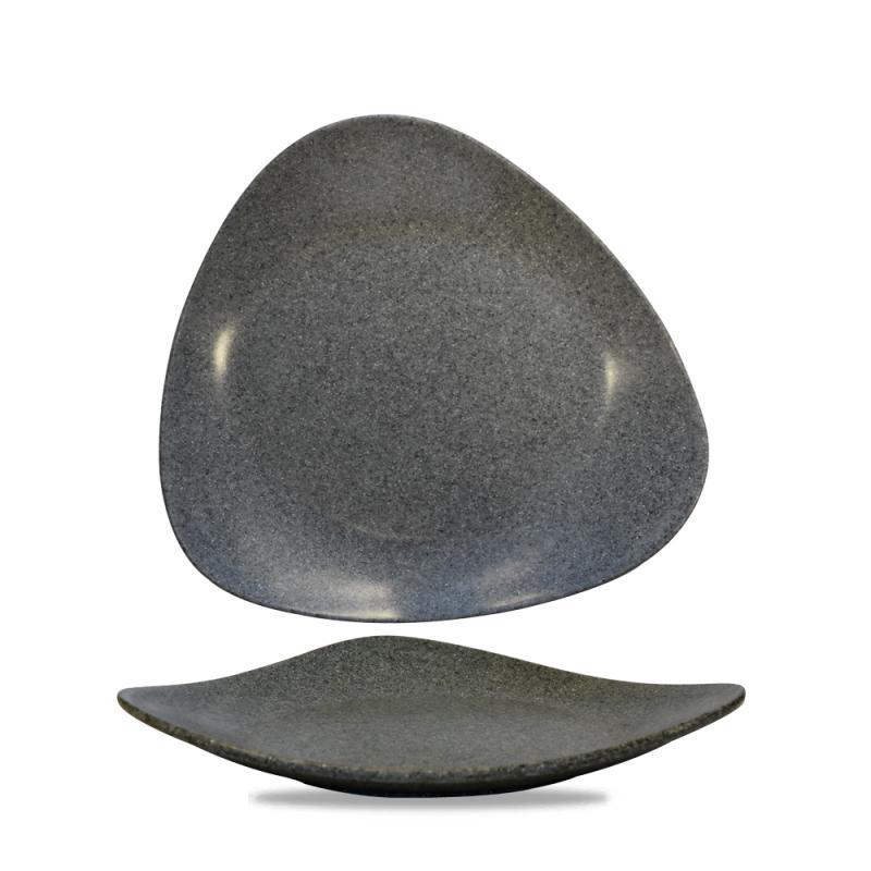 "Plastic  Granite Lotus Melamine Plat 13 3/4"" Box 4"
