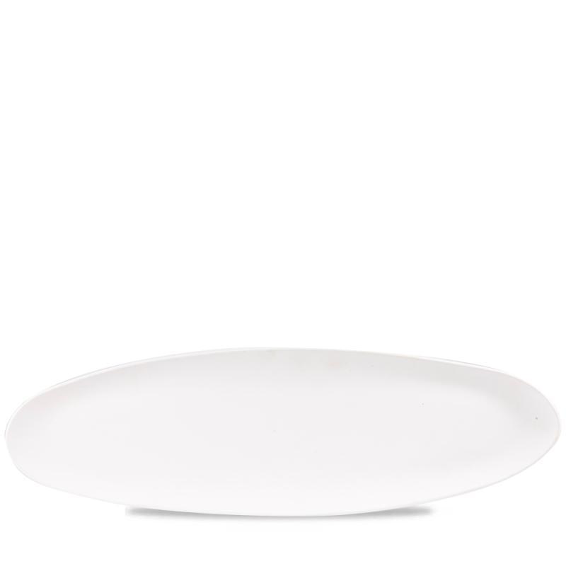 "Plastic  White Trace Melamine Tray 20 7/8X6 3/8"" Box 4"