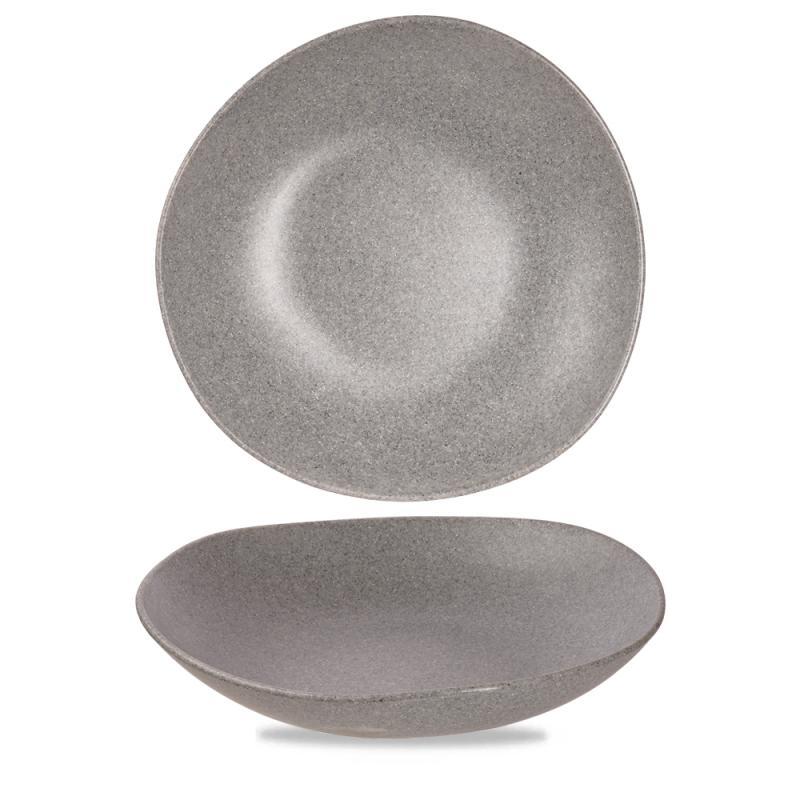 "Plastic  Trace Granite Melamine Bowl 15"" Box 2"