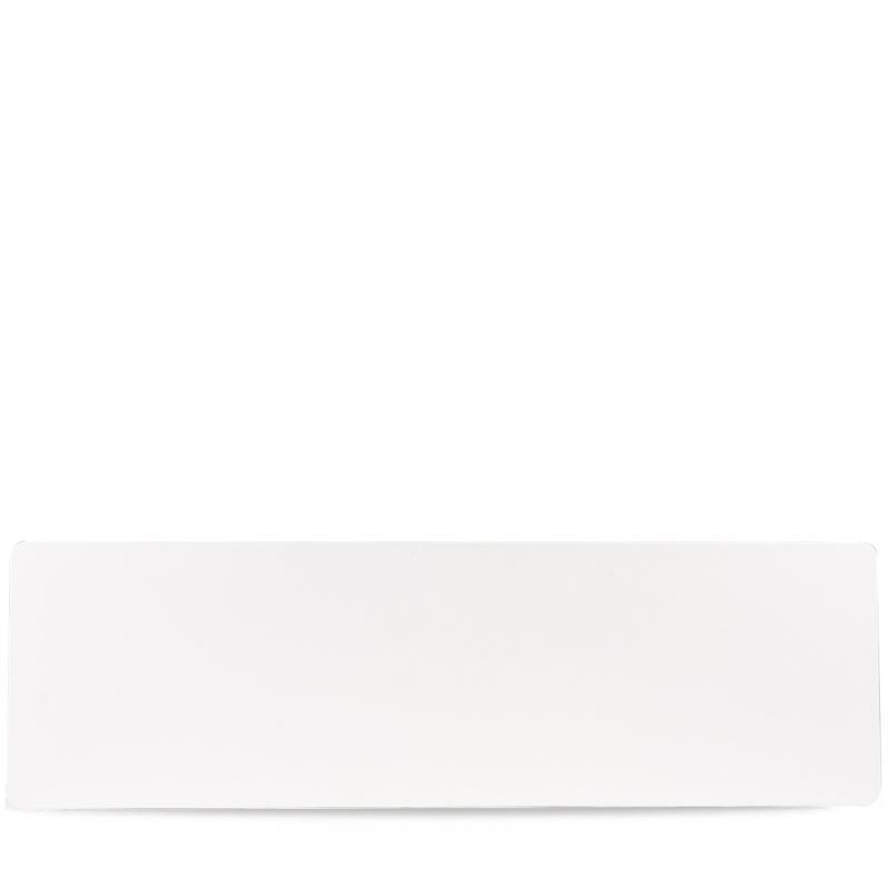 "Plastic  White Melamine Gn 2/4 Tray 20 5/6X6 1/3"" Box 4"