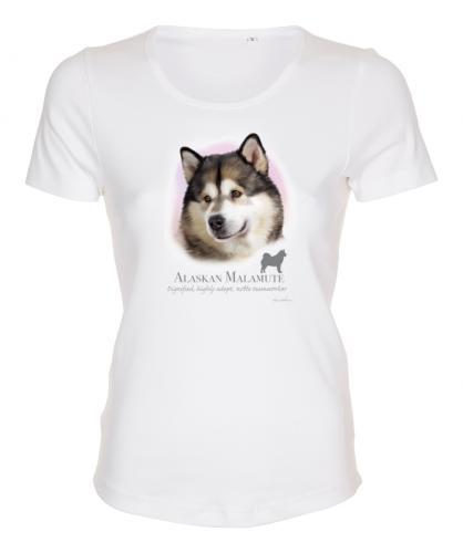 Figursydd t-shirt med Alaskan Malamute