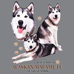 Tygkasse med Alaskan Malamute