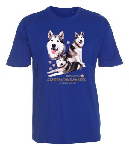 T-shirt med Alaskan Malamute