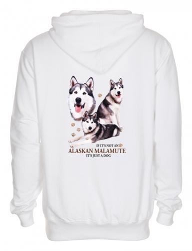 Luvtröja med Alaskan Malamute