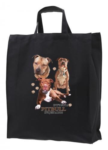 Tygkasse med American Pit Bull Terrier