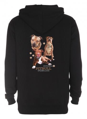 Luvtröja med American Pit Bull Terrier