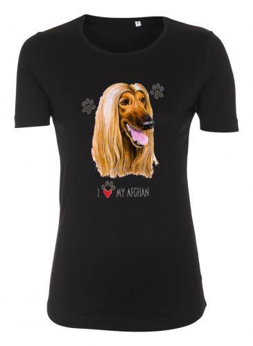 Figursydd t-shirt med Afghanhund
