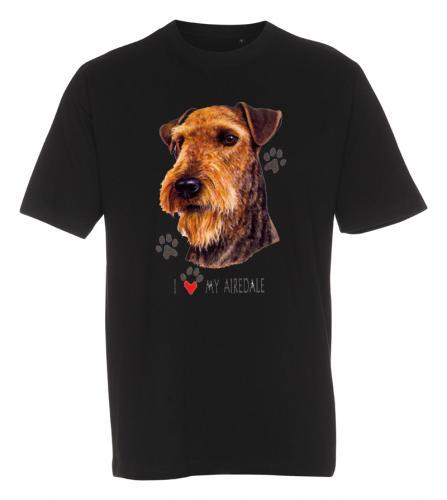 T-shirt med Airdaleterrier