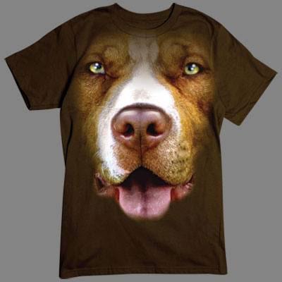 T-shirt med American Pitbull Terrier