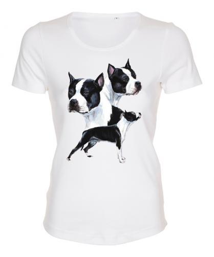 Figursydd T-shirt med American Staffordshire