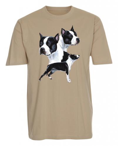 T-shirt med American Staffordshire