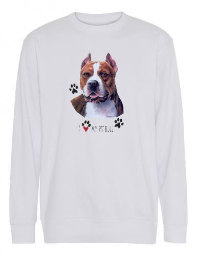 Collegetröja med American Pit Bull Terrier