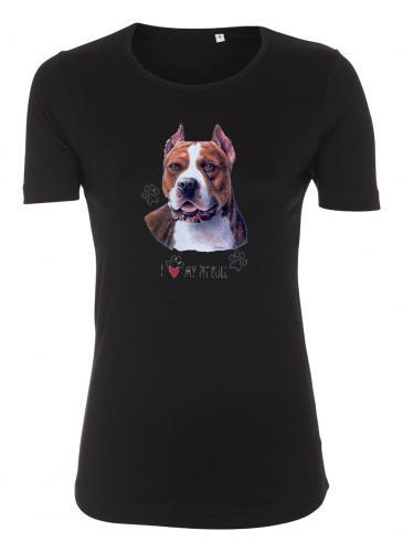 Figursydd T-shirt med American Pit Bull Terrier