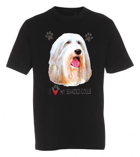 T-shirt med Bearded Collie