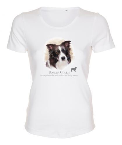 Figursydd T-shirt med Border Collie