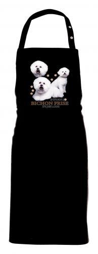 Grillförkläde med Bichon Frisé