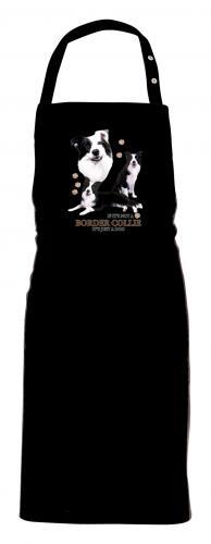 Grillförkläde med Border Collie