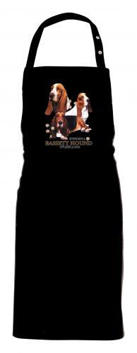 Grillförkläde med Basset Hound