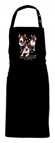 Grillförkläde med Bullterrier
