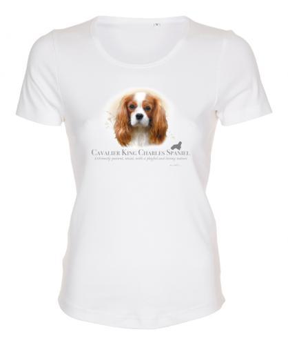 Figursydd T-shirt med Cavalier King Charles