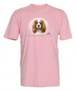 T-shirt med Cavalier King Charles Spaniel