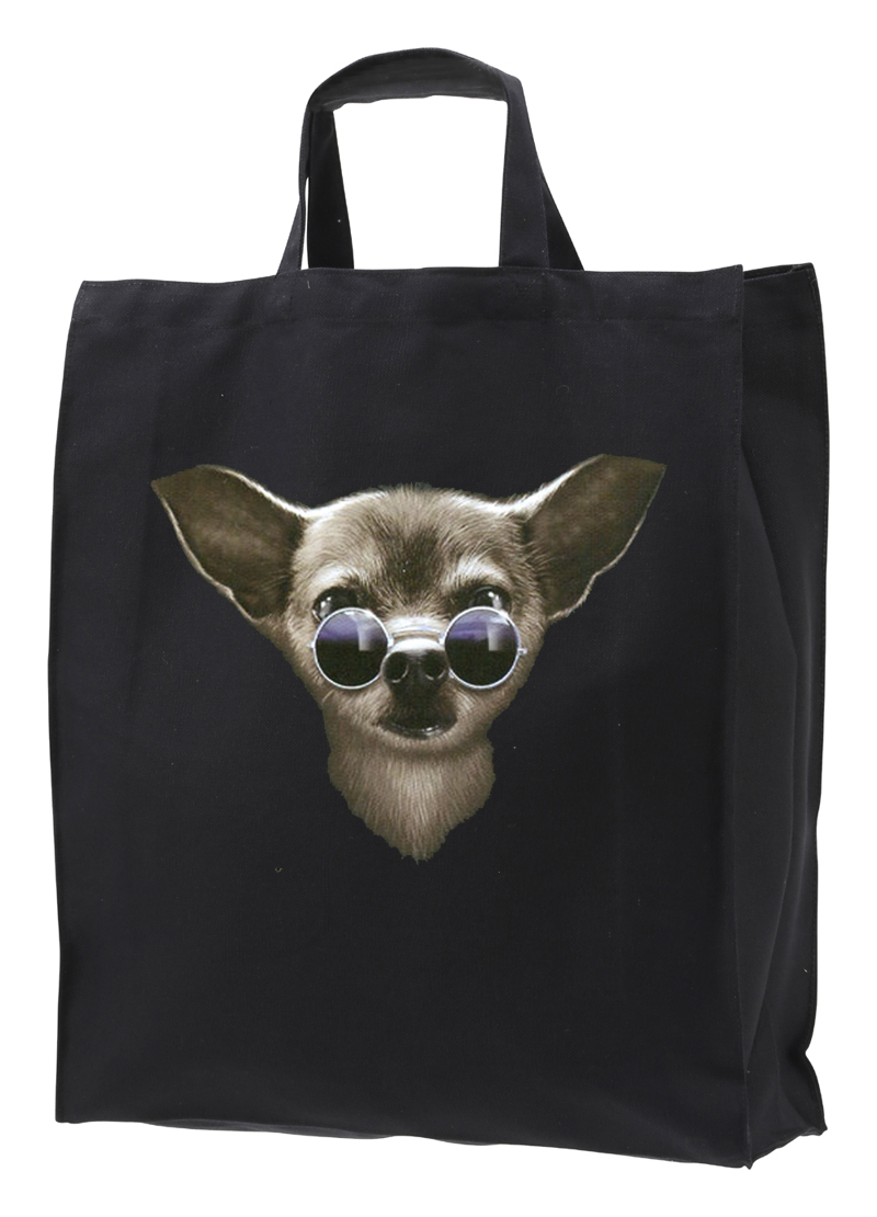 Tygkasse med Chihuahua