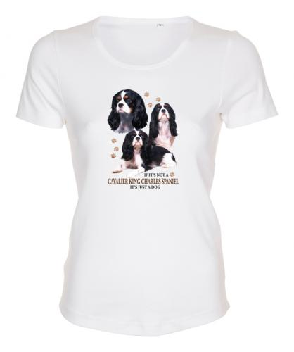 Figursydd T-shirt med Cavalier King Charles Spaniel