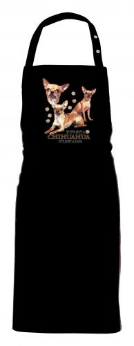 Grillförkläde med Chihuahua