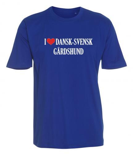 """T-shirt """"I Love"""" Dansk-Svensk Gårdshund"""